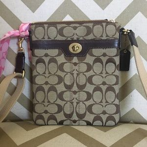 Authentic Coach signature crossbody